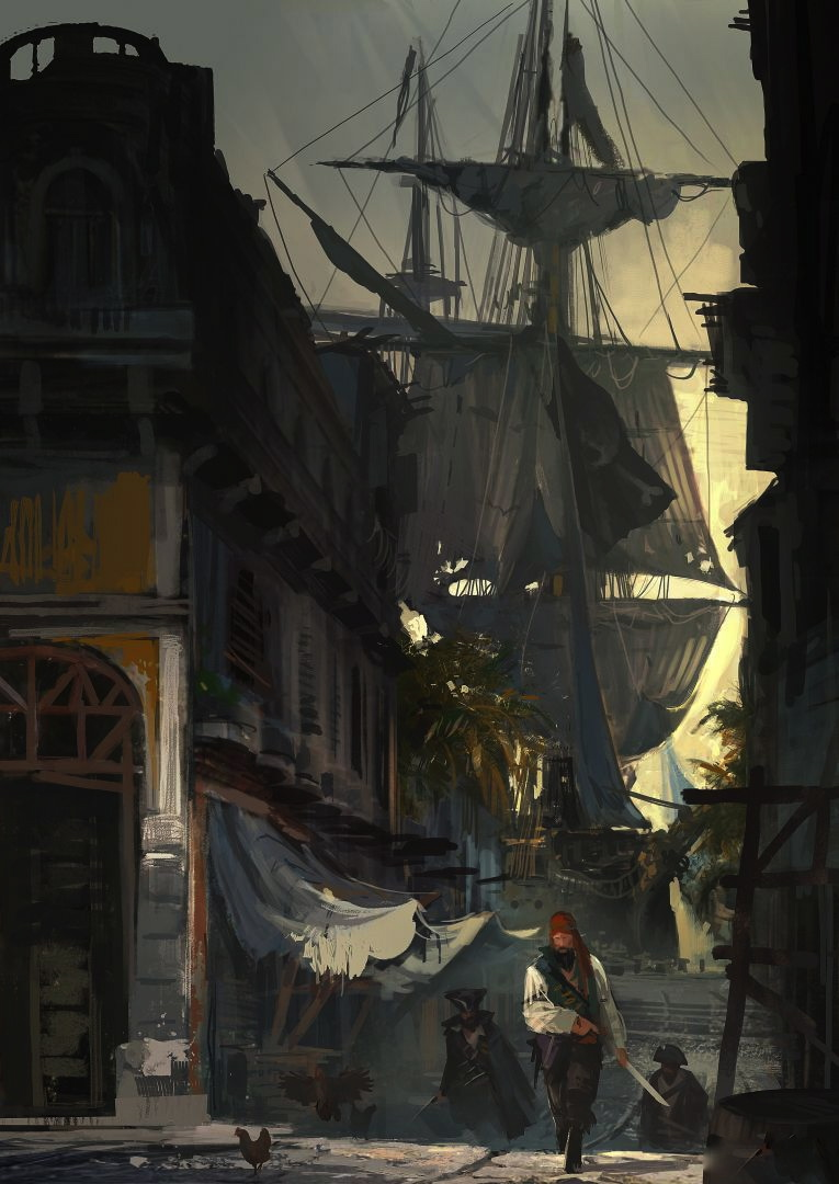 LEONA KYLE Ac_iv_black_flag_harbor_concept_art_by_orochimaruxdd-d6ico9l