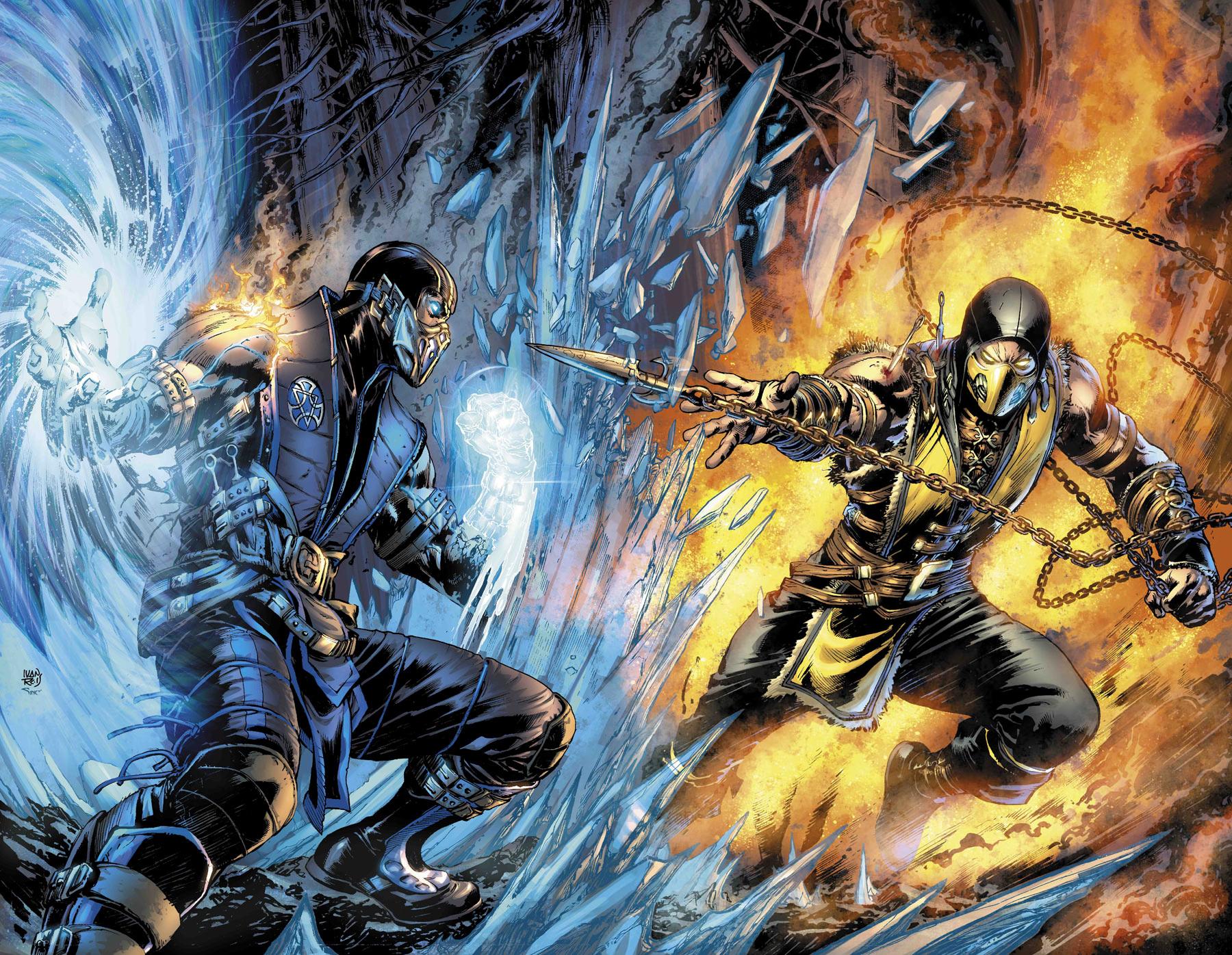 Mortal Kombat X Sub Zero Vs Scorpion By Orochimaruxdd On Deviantart