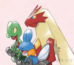 Request - Hoenn Starters by D-O-9
