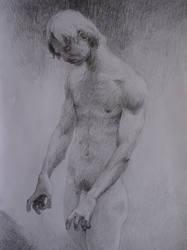 male figure, pencil, 29,7x27cm, 2006