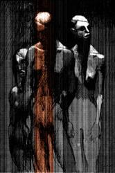 figures, printing on board 83x56cm, 2007