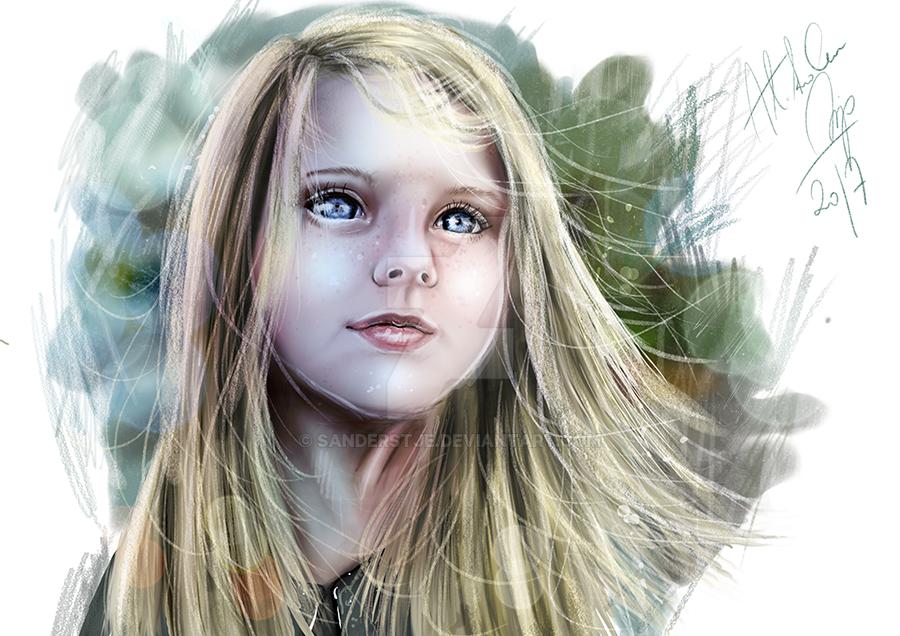 Girl portrait by sanderstje