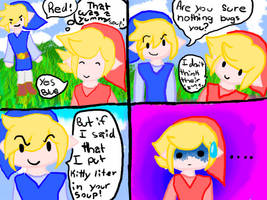 Blue link and red link comic by Tailia-the-cat