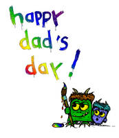 Happy Fathers Day w monsters by billiambabble