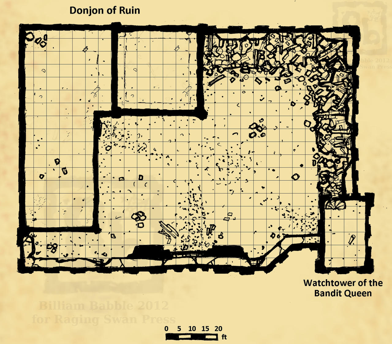 Ruined Keep Map -commission for Raging Swan Press by billiambabble