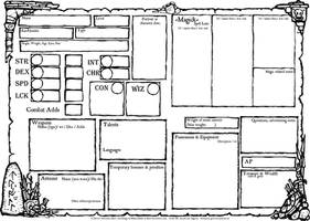 An Adventurer's Character Sheet by billiambabble