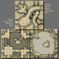 Inked Adventures Geomorphic Dungeon Tiles