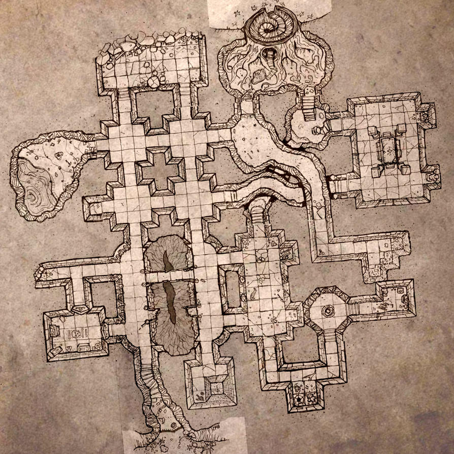 Small dungeon level by billiambabble on deviantart for Floor 2 dungeon map