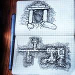 Tomb doorway and map