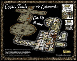 Crypts,Tombs and Catacombs Cut Up Sections map by billiambabble