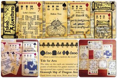 Inked Adventures Map and Dice Playing Cards  by billiambabble