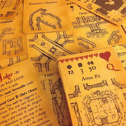 Inked Adventures Map and Dice Cards
