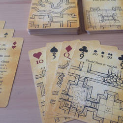 Inked Adventures Map and Dice Playing Cards poker