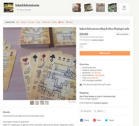 Inked Adventures Map n Dice Playing Cards on Etsy