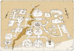 Dwarven stronghold illustrated map