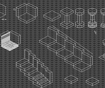 Study3:Wireframe columns,steps by billiambabble