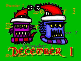 Advent Monsters - Dec 1st by billiambabble