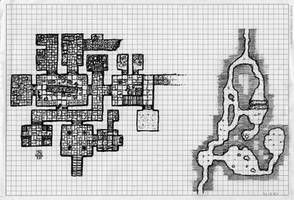 Dungeon on graph paper