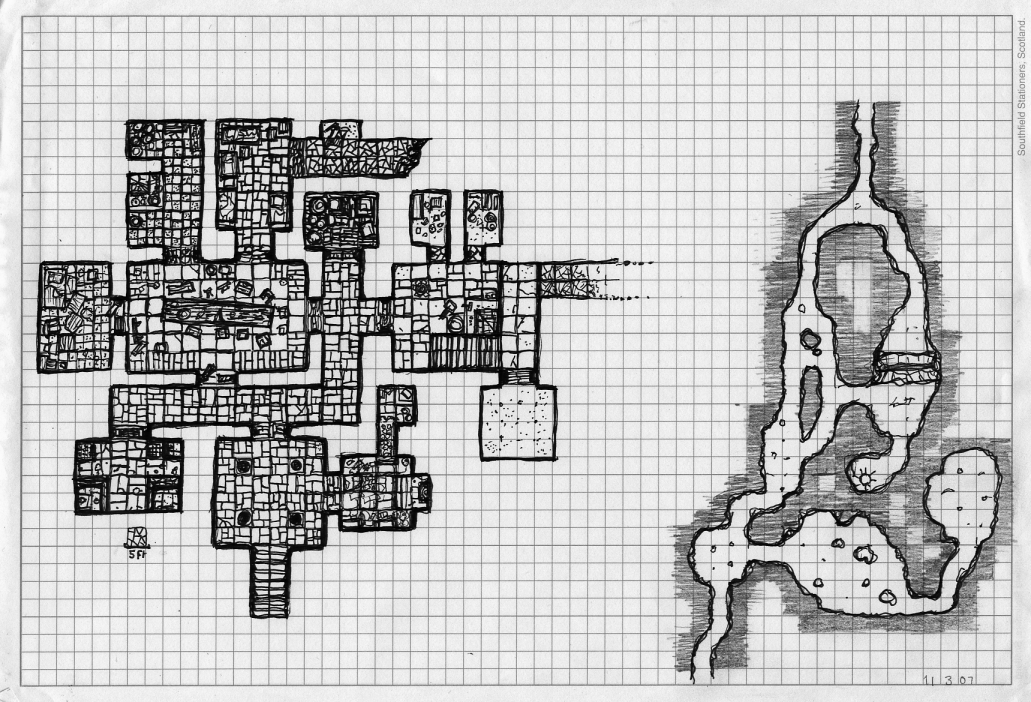 dungeon on graph paper by billiambabble on deviantart