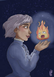 Sophie and Calcifer by Sairu-chan