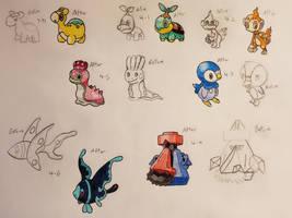 Pokemon-A-Day Week 14 by GarrodWindfang