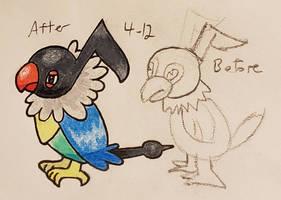 Pokemon-A-Day #441: Chatot by GarrodWindfang