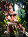 Nidalee from League of Legends by Reivash