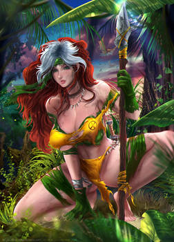 Savage Rogue from the X-Men -Commission + Nsfw