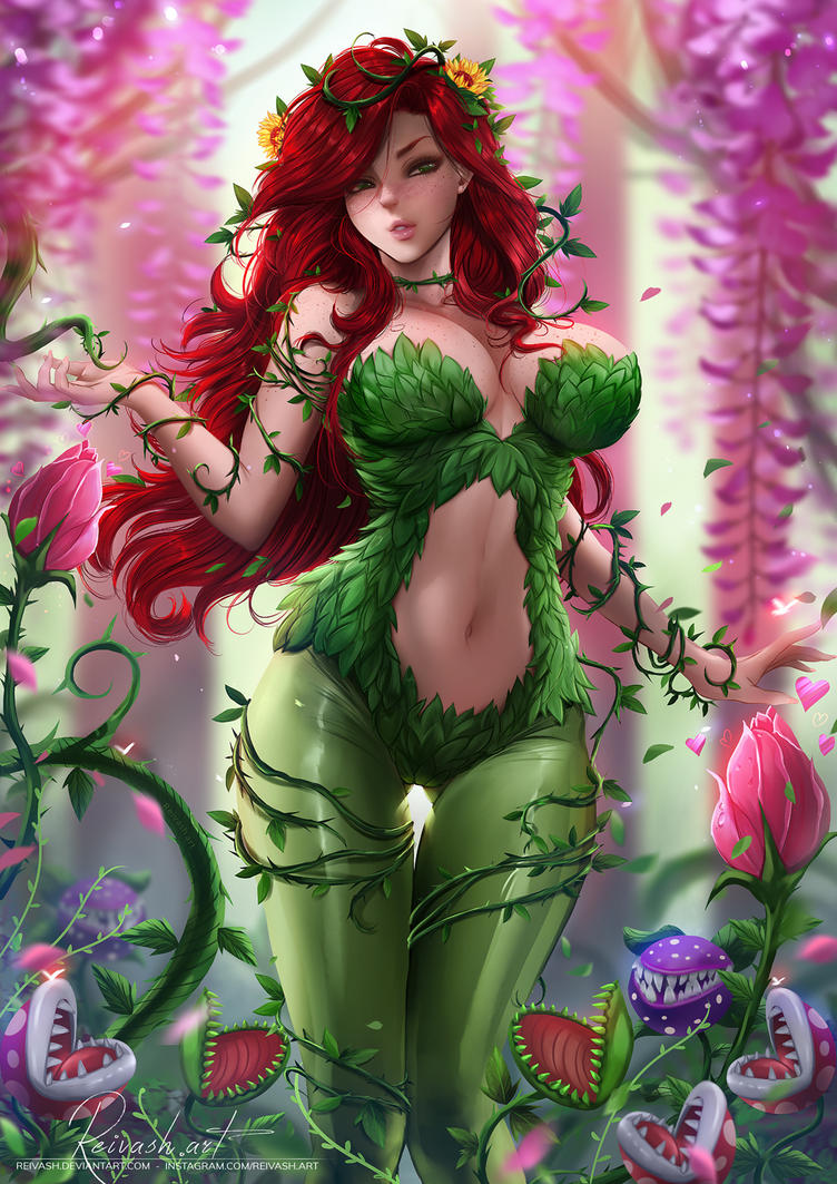 Poison Ivy - Commission + Nsfw full body by Reivash