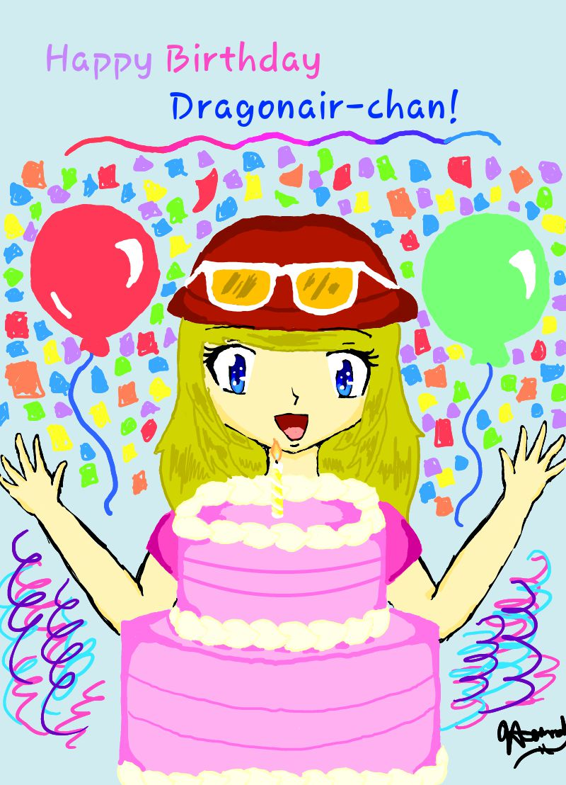 Happy Birthday Dragonair-chan!!! by Melomiku