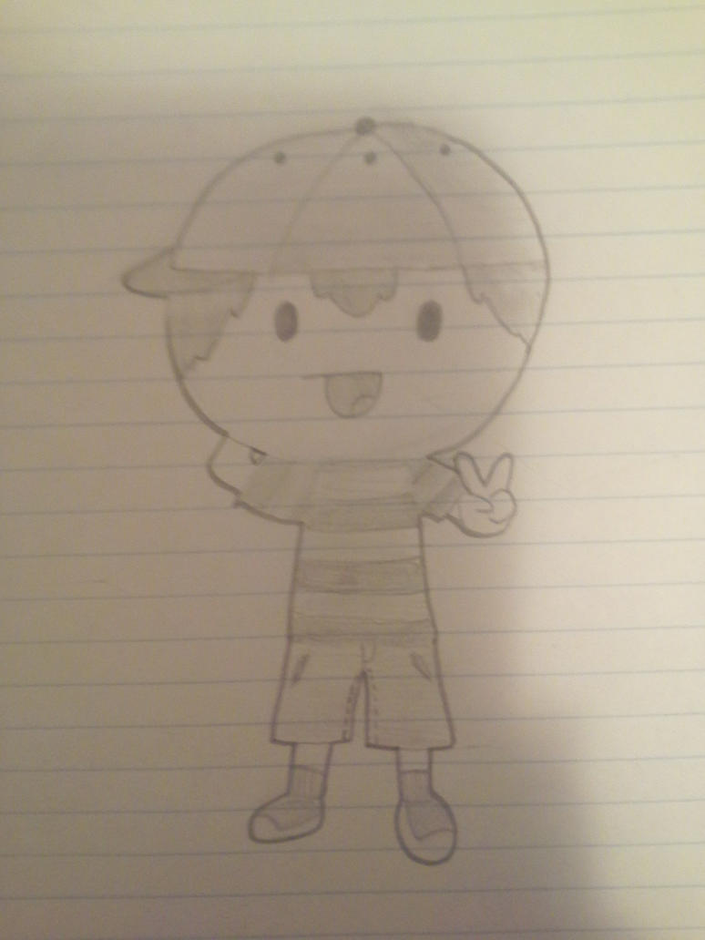 Ness from Earthbound by Melomiku
