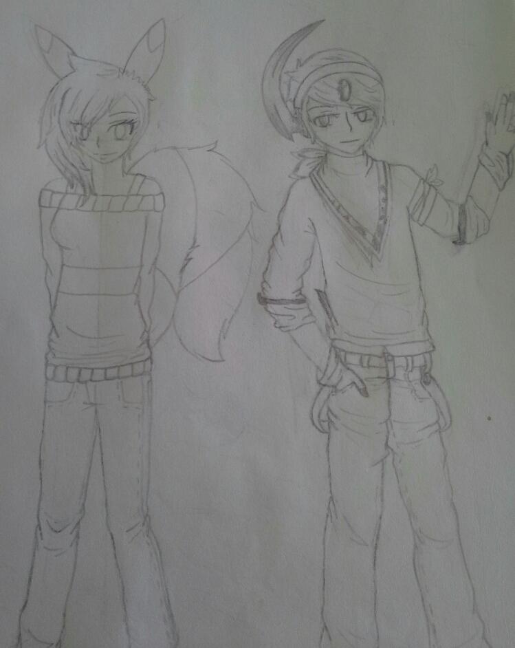 Gijinka Sally and Kurai by Melomiku
