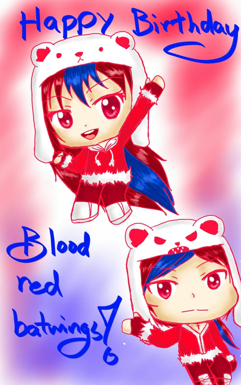 Happy Birthday bloodredbatwings! by Melomiku