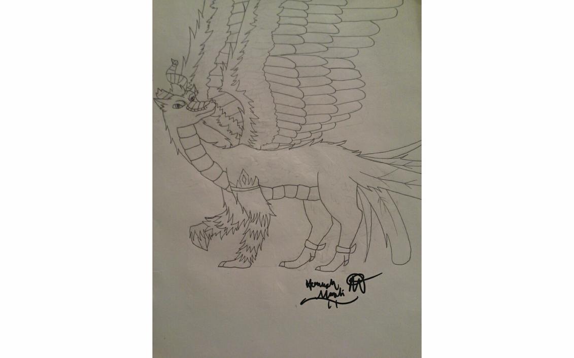Demeter as a dragon by Melomiku
