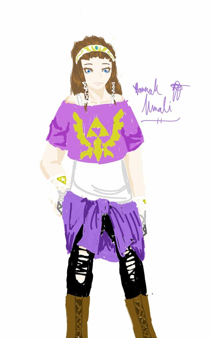 Rough Sketch Hipster Zelda by Melomiku