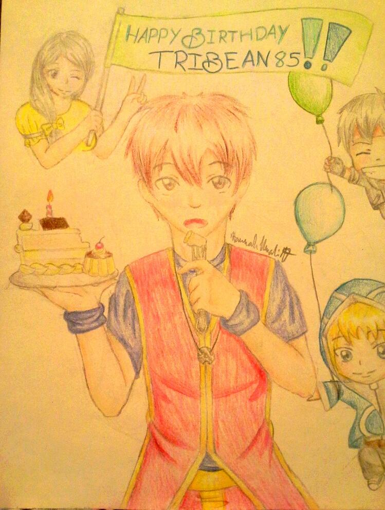 Happy Birthday tribean85! by Melomiku