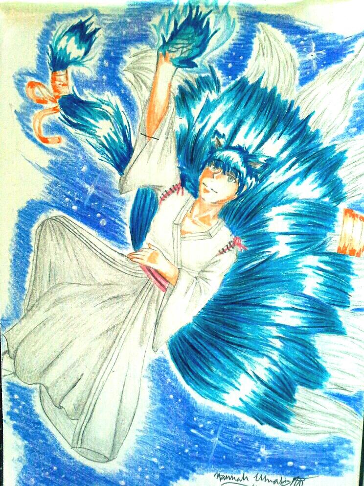 Laying among the stars by Melomiku