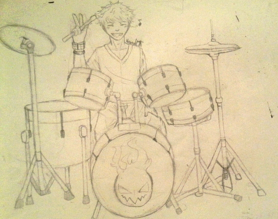 Travis's drum set by Melomiku