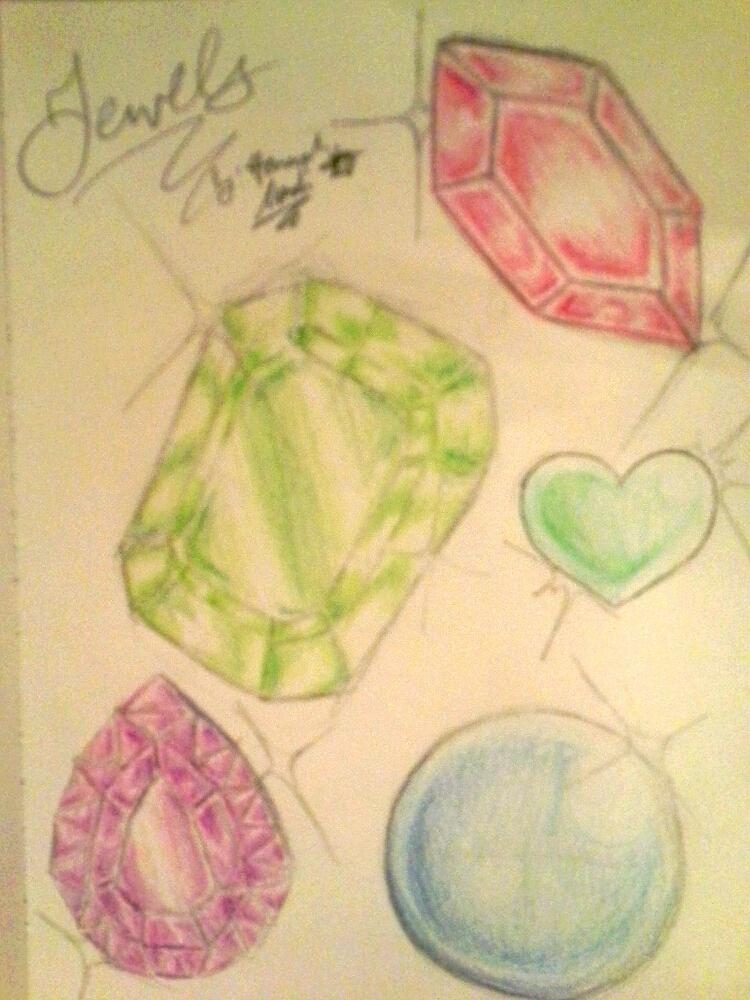 Jewel shading practice~ by Melomiku