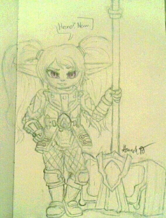 Just a Yordle with a hammer by Melomiku
