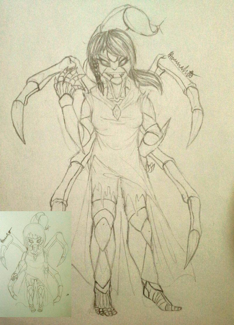 Undertale Persona: Kala the Scorpion monster by Melomiku
