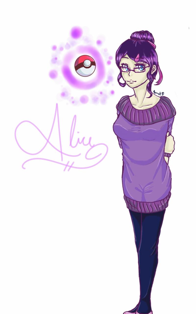 PokemonOC:Older Alice by Melomiku