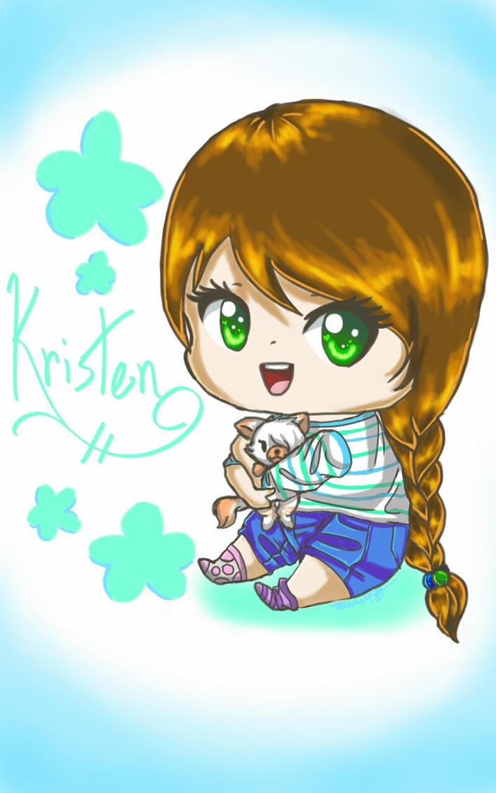 .:Gift:. Chibi Kristen by Melomiku