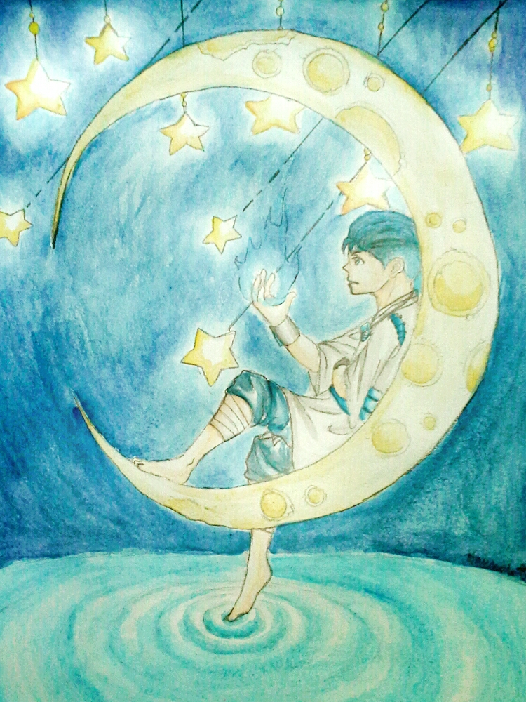 Koteru, the Spirit of the Moon by Melomiku