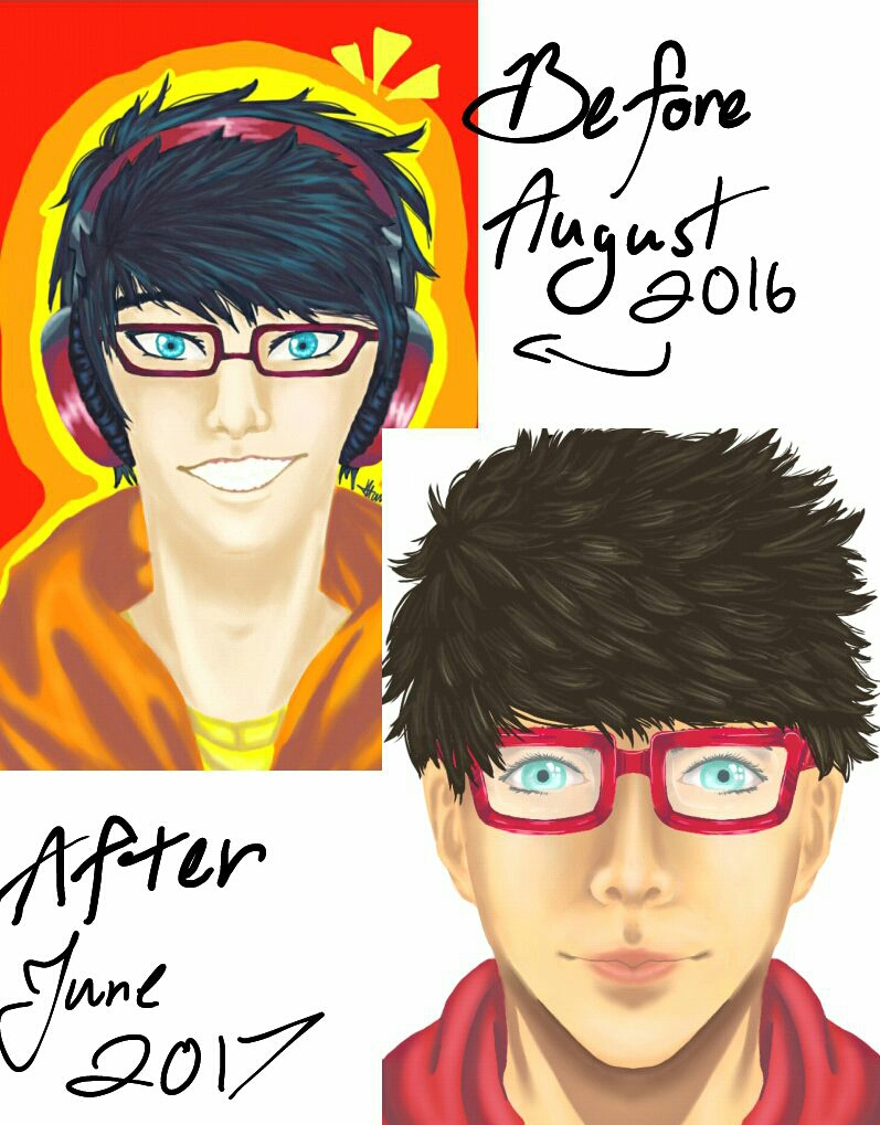 Before and After: Tobi by Melomiku