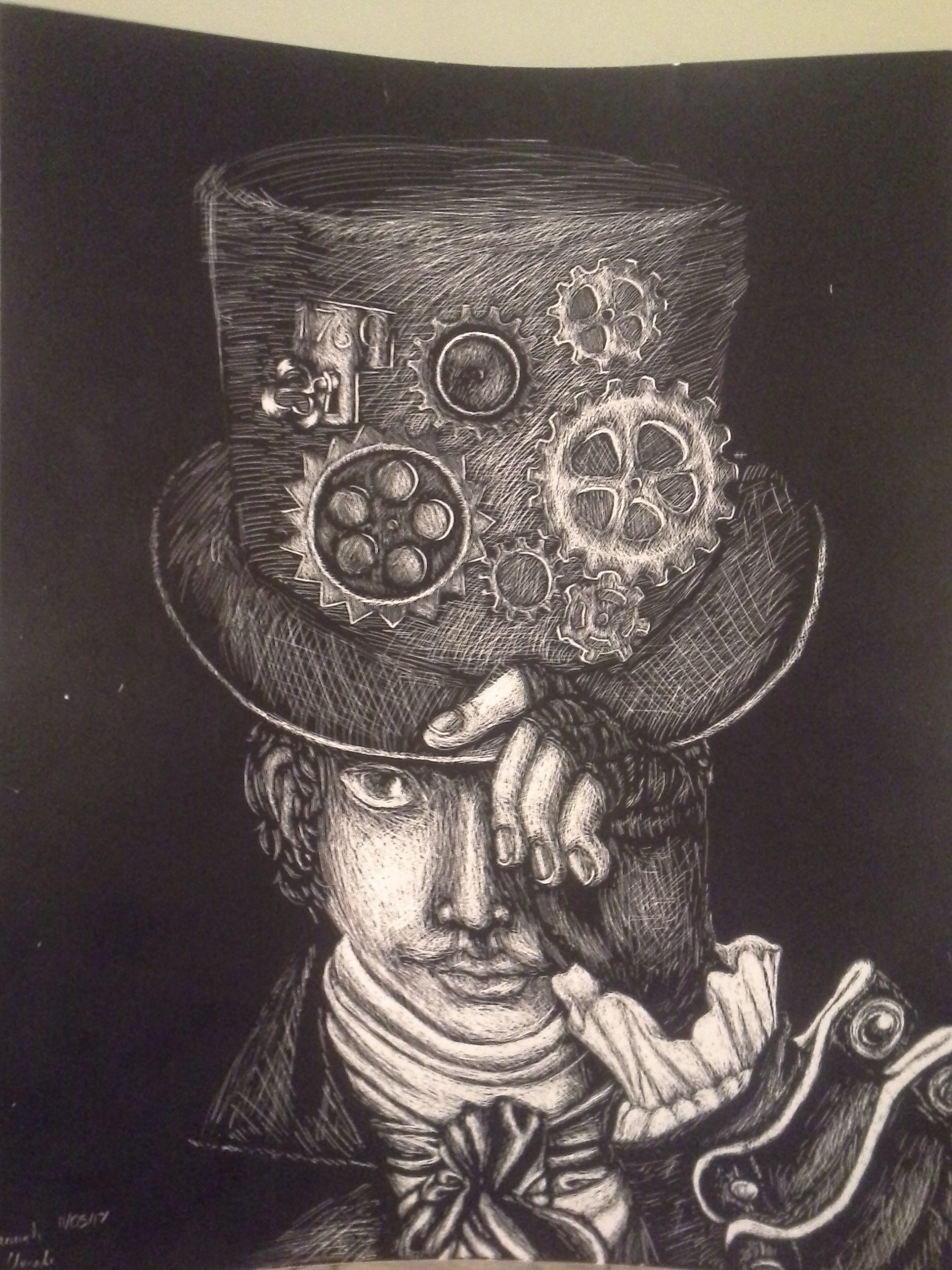 Scratchboard: The Industrial Revolution by Melomiku