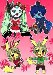 .:Pokepals of Melomiku:. Holiday Outfits by Melomiku