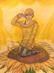 .:Gift:. Sunflowers and Sunshine by Melomiku