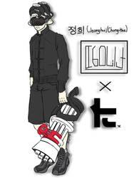 .:Splatoon Fan Characters:. Chung-Hee x Toni Kensa by Melomiku