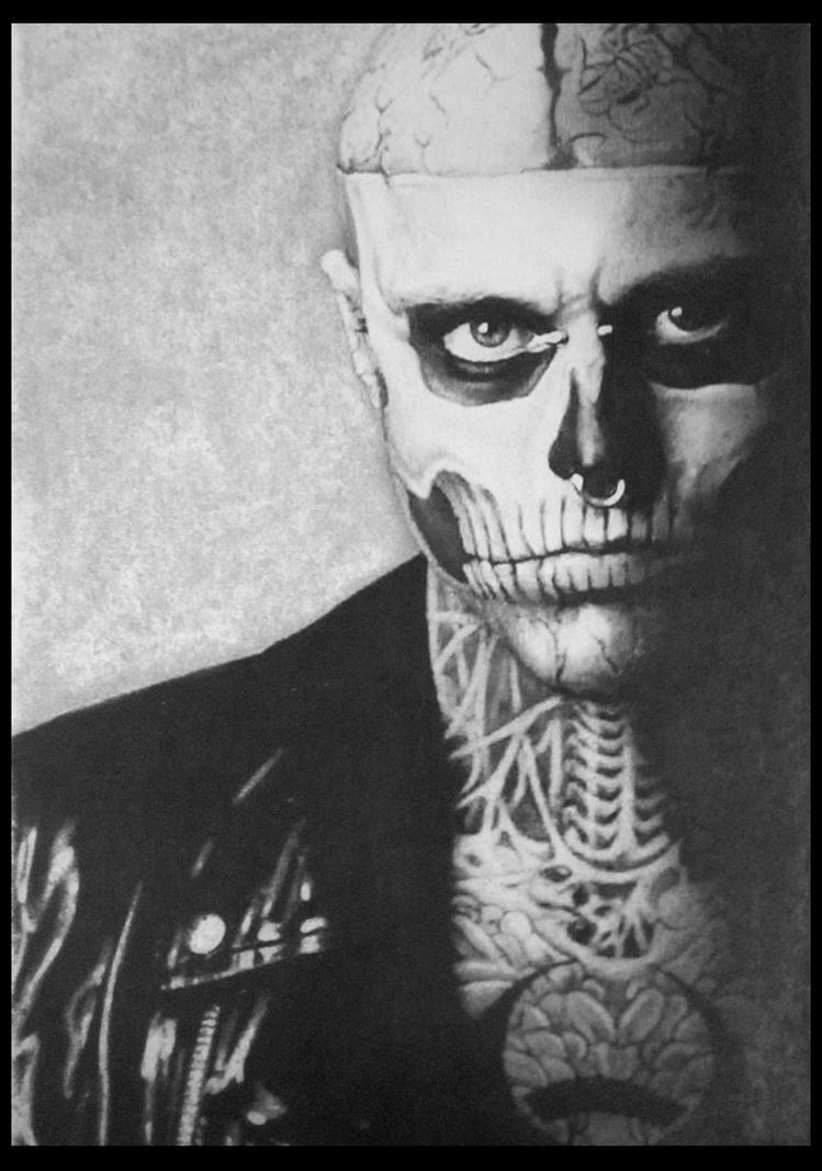 Rick Genest Zombie Boy by FredrikEriksson1